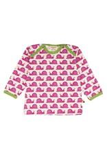 Loud+Proud Loud+Proud - shirt, fuchsia slakken (0-2j)