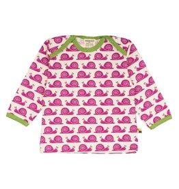 Loud+Proud Shirt, fuchsia slakken (0-2j)