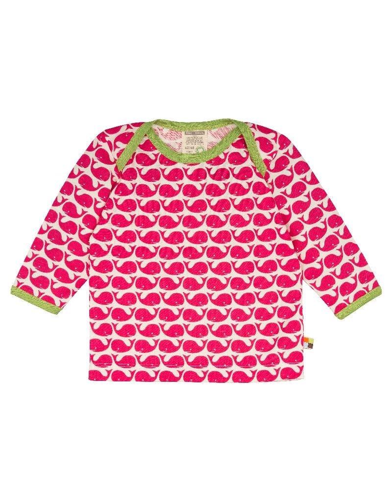 Loud+Proud Loud+Proud - shirt, roze walvissen (0-2j)
