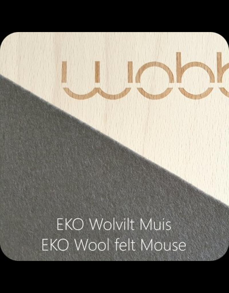Wobbel Wobbel - Original blank gelakt, vilt muis