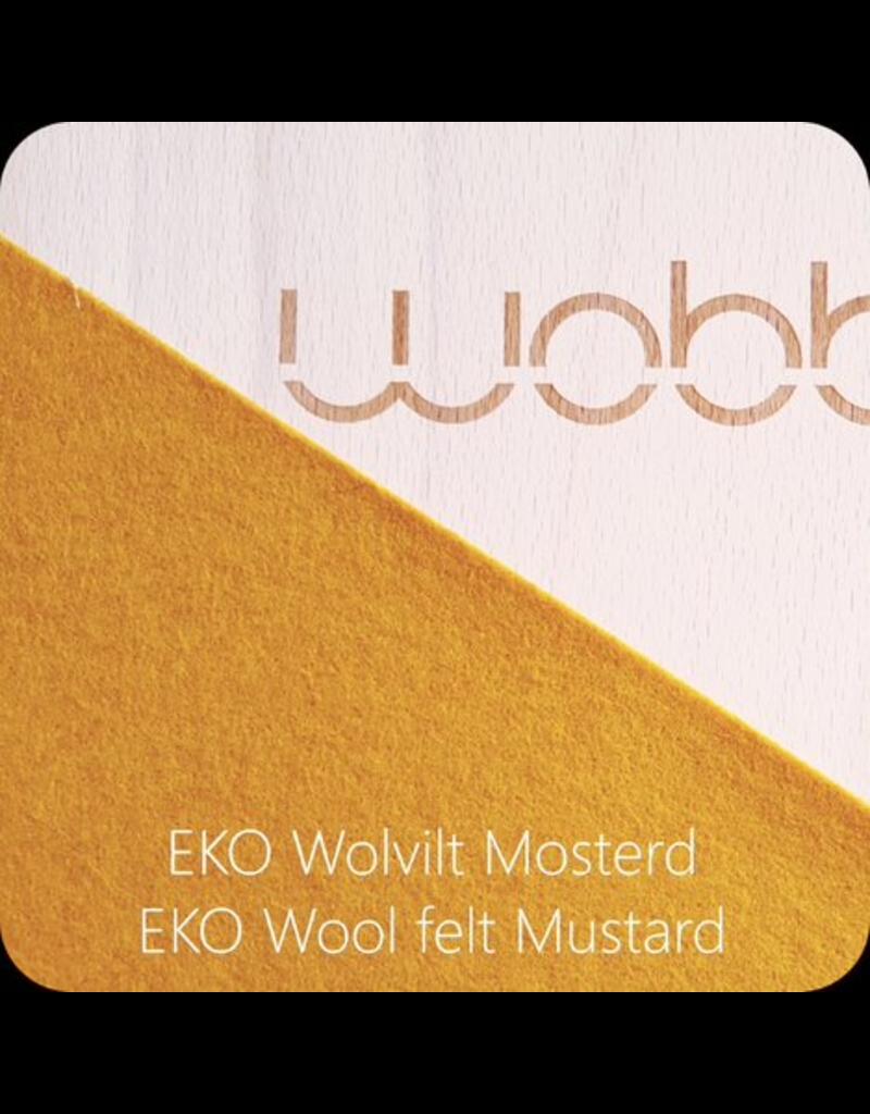 Wobbel Wobbel - Original blank gelakt, vilt mosterd