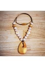 Groeien & Bloeien Groeien & Bloeien - borstvoedingsketting met gouden siliconen druppel en ronde kralen