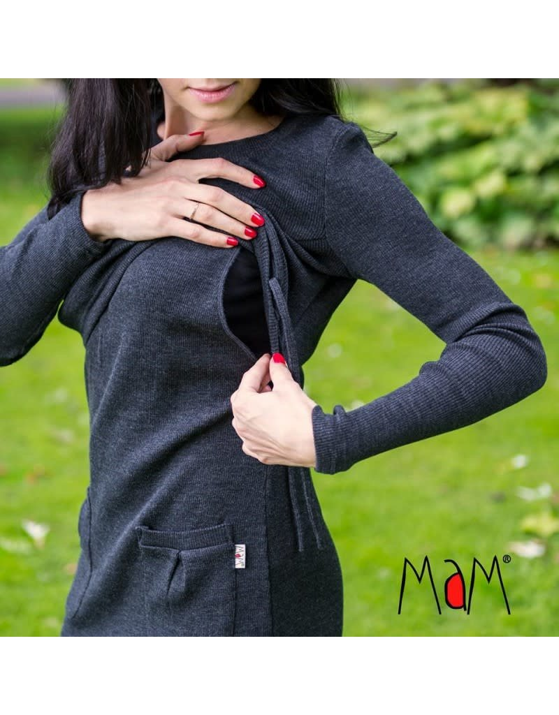 MaM MaM - MotherHood Tunic, wol, foggy black