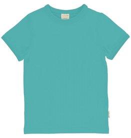 Maxomorra T-shirt, Solid Aqua (0-2j)