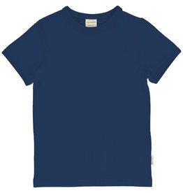 Maxomorra T-shirt, Solid Navy (0-2j)