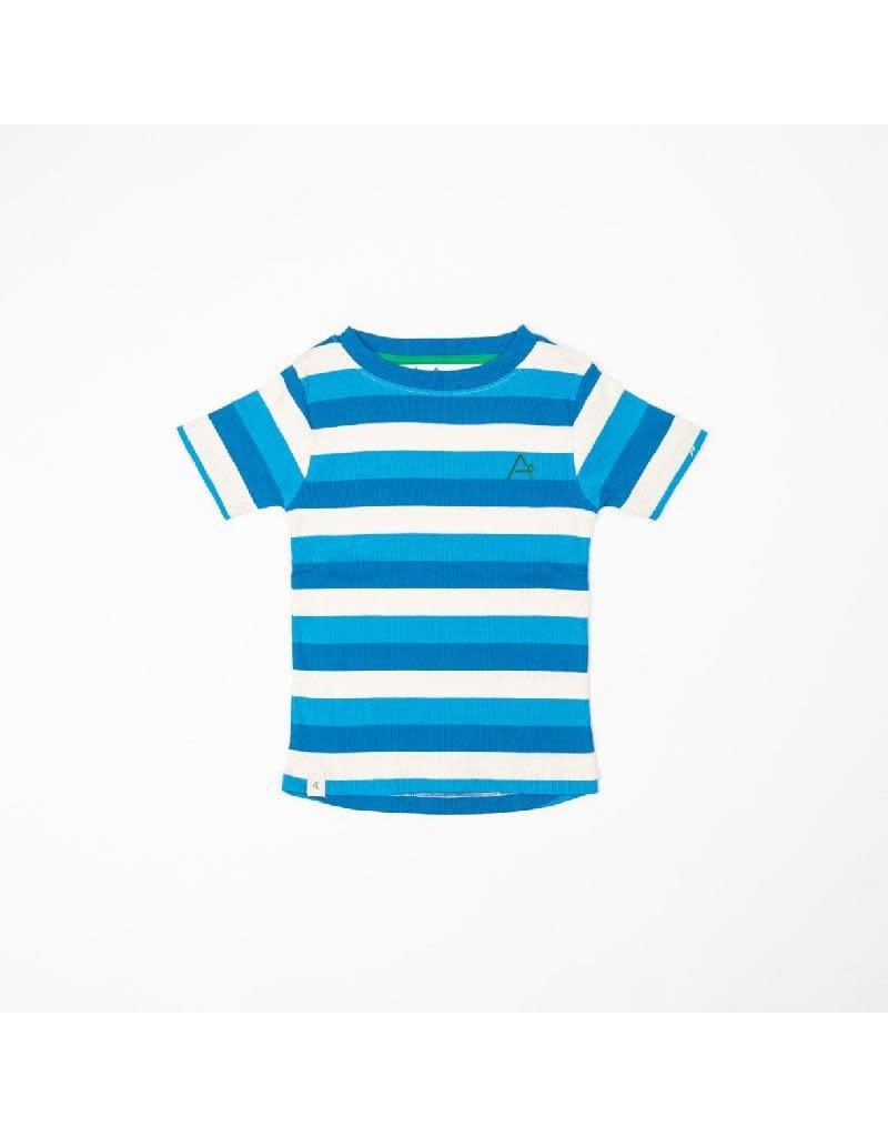 Alba of Denmark Alba of Denmark - The Bell T-shirt, Snorkel Blue Stripes (0-2j)
