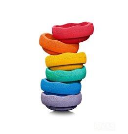 Stapelstein Rainbow, set van 6