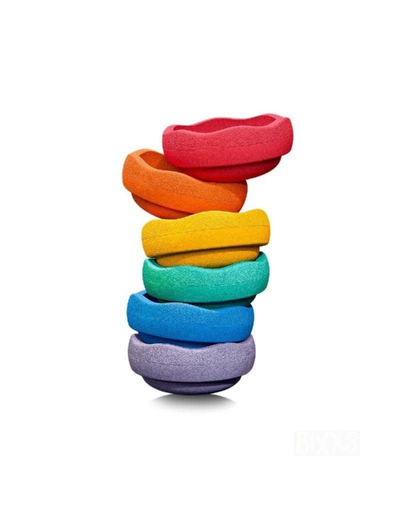 Stapelstein Stapelstein - Rainbow, set van 6