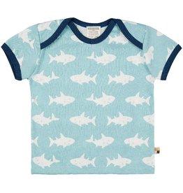 Loud+Proud T-Shirt print shark, lagoon (0-2j)