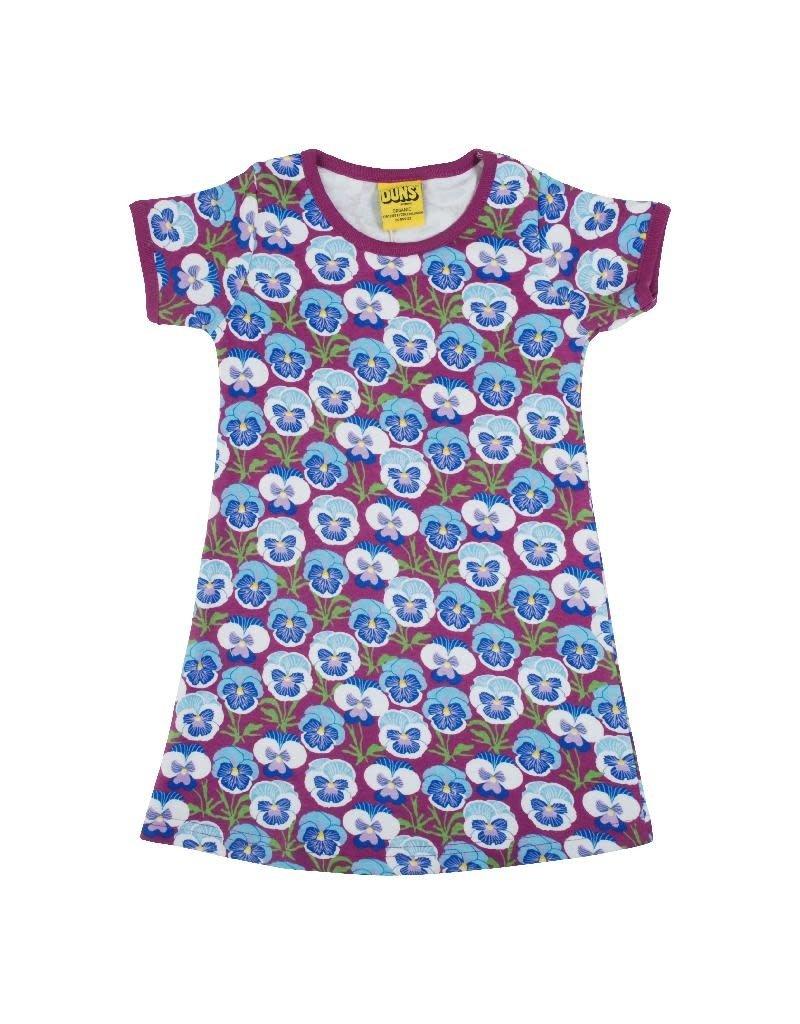 DUNS Sweden DUNS Sweden - Short Sleeve Dress, Pansy Hyacinth Violet (3-16j)