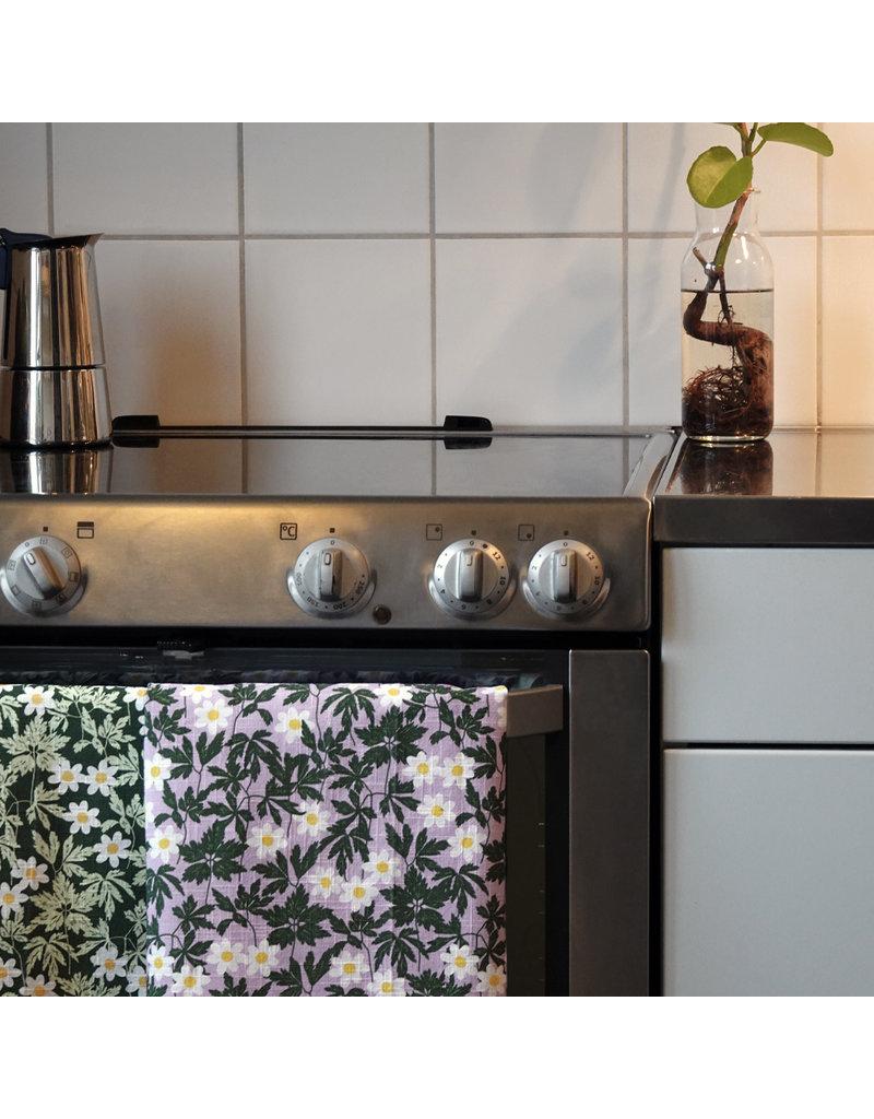 DUNS Sweden DUNS Sweden - Kitchen Towel, cotton/linen, Wood Anemone Viola