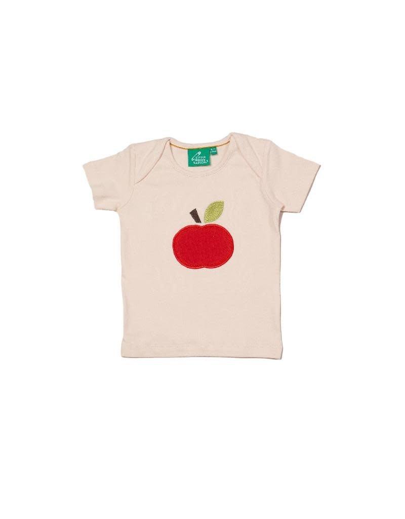 Little Green Radicals Little Green Radicals - An Apple A Day Applique T-Shirt (0-2j)