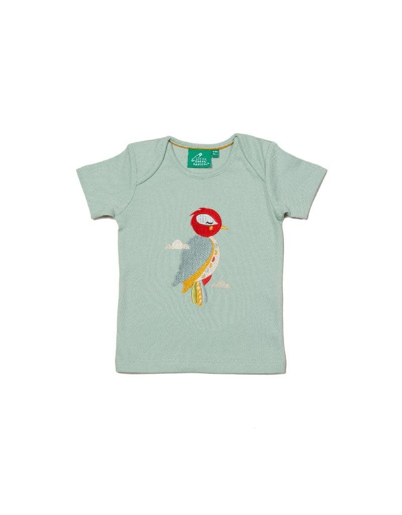 Little Green Radicals Little Green Radicals - Little Woodpecker Applique T-Shirt (3-16j)