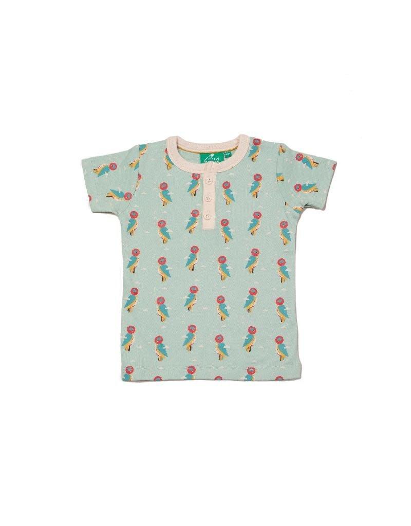 Little Green Radicals Little Green Radicals - Little Woodpecker Button Down T-Shirt (0-2j)