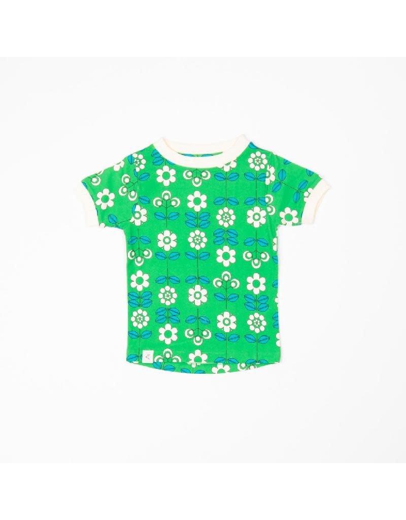 Alba of Denmark Alba of Denmark - Bella T-shirt, Kelly Green, Fairy Tail Flowers (3-16j)