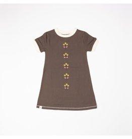 Alba of Denmark Kleed, chocolate brown (3-16j)