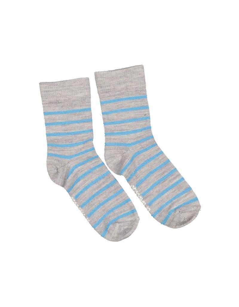 Geggamoja Geggamoja - kous, wol, grijs/blauw (3-16j)