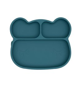 We Might Be Tiny Bear Stickie plate, blue dusk