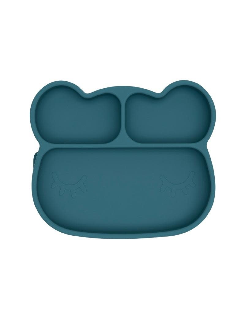We Might Be Tiny We Might Be Tiny - Bear Stickie plate, silicone, blue dusk
