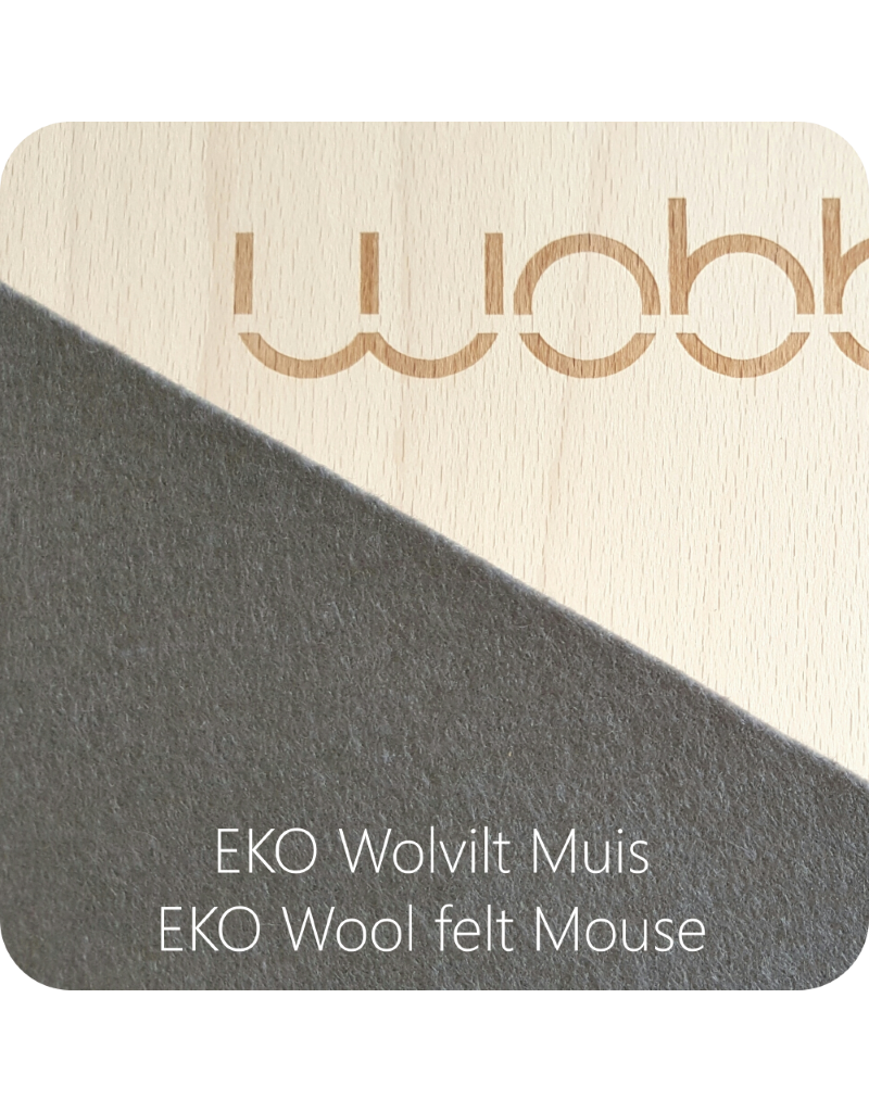 Wobbel Wobbel - Original blank gelakt XL, vilt muis