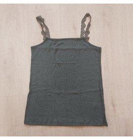 Joha Topje, wol/zijde, grijsgroen