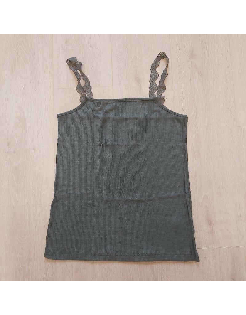 Joha Joha Woman - topje, wol/zijde, grijsgroen