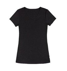 Joha T-shirt, wol/zijde, zwart