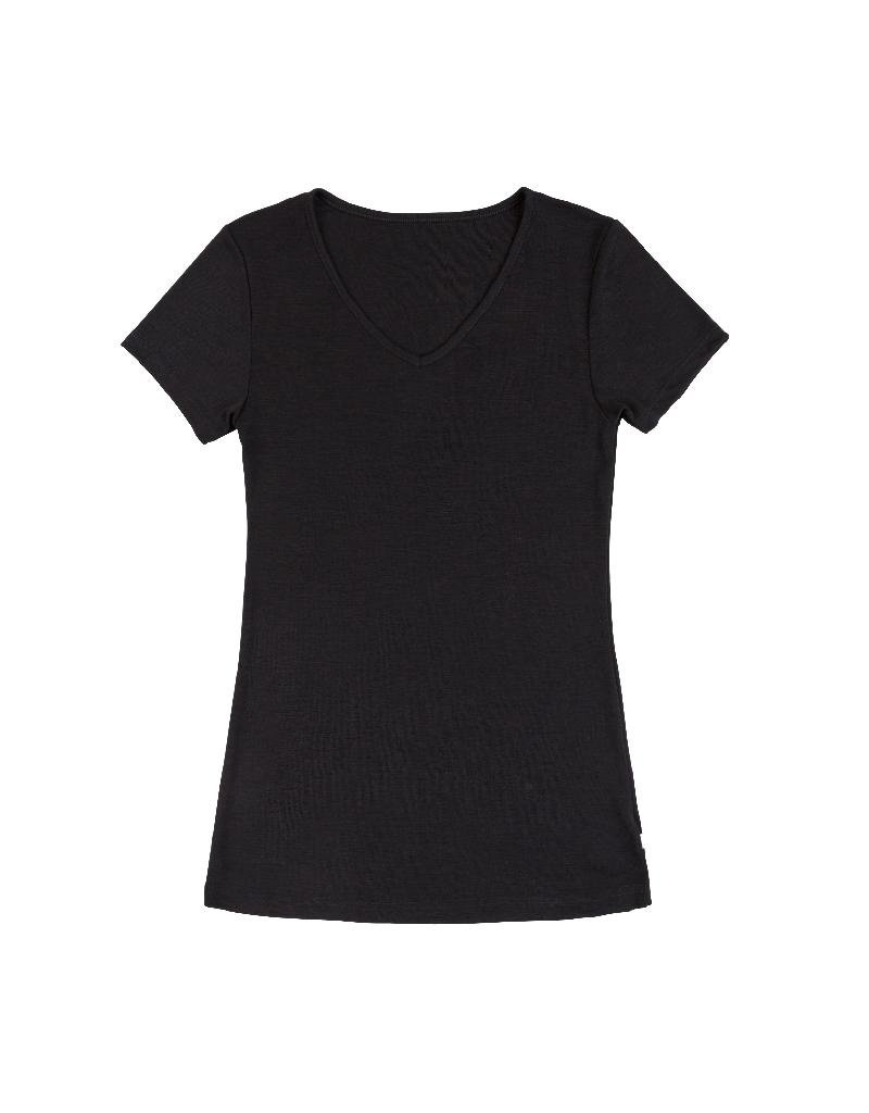 Joha Joha Woman - T-shirt, wol/zijde, zwart