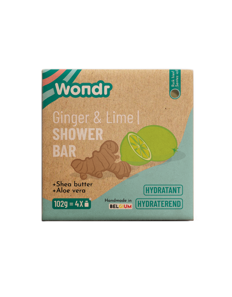 Wondr Wondr - Shower bar, Ginger & Lime