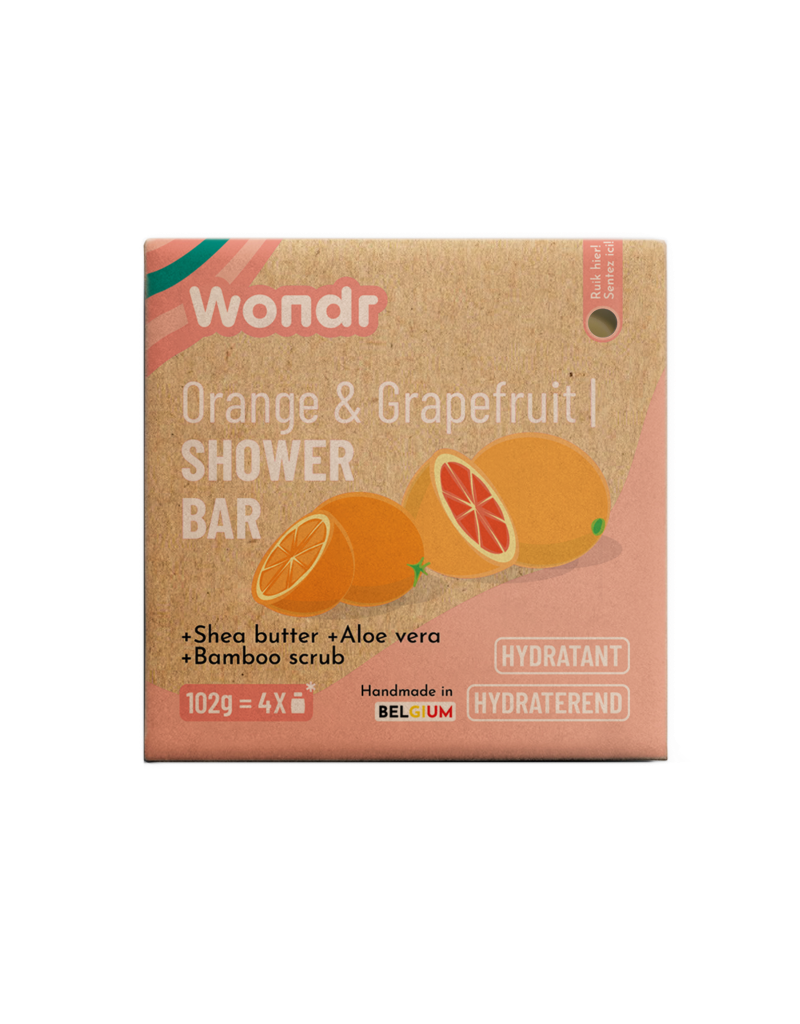 Wondr Wondr - Scrub bar, Orange & Grapefruit