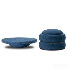 Stapelstein Balance board set, schemerblauw