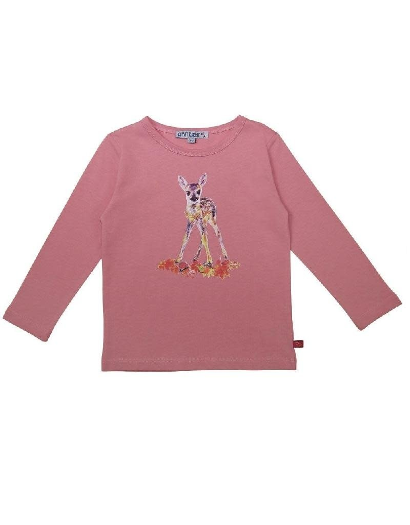 Enfant Terrible Enfant Terrible - Shirt mit Rehdruck, rosé (3-16j)
