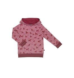 Enfant Terrible Kaptrui met paardenprint, rosé-erika (3-16j)