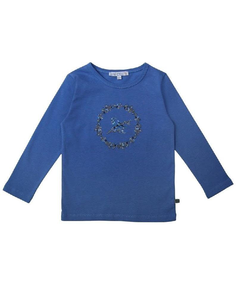 Enfant Terrible Enfant Terrible - Shirt mit Vogelstickerei, himmelblau (3-16j)