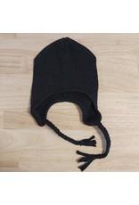 ManyMonths ManyMonths - earflap beanie, wol, foggy black (3-16j)