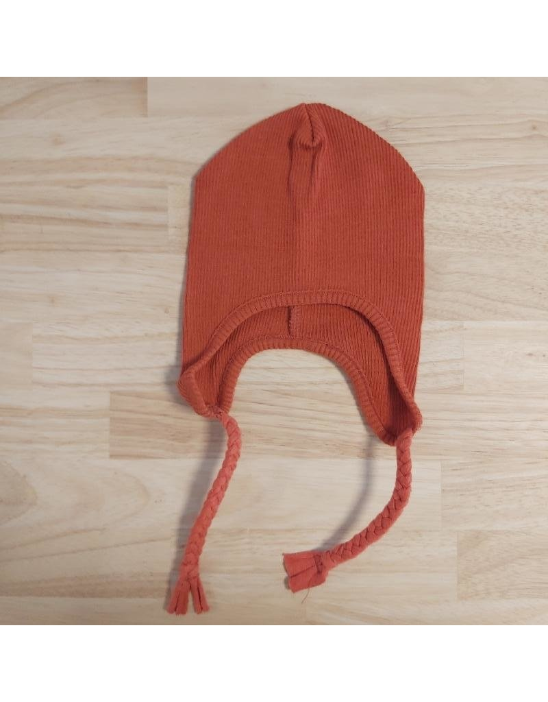 ManyMonths ManyMonths - earflap beanie, wol, rooibos red (0-2j)