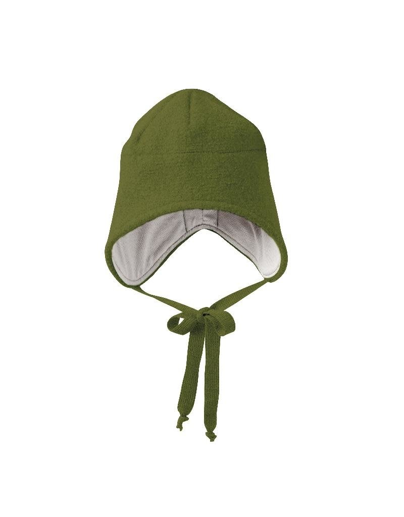 Disana Disana - Boiled wool hat, olive (0-2j)