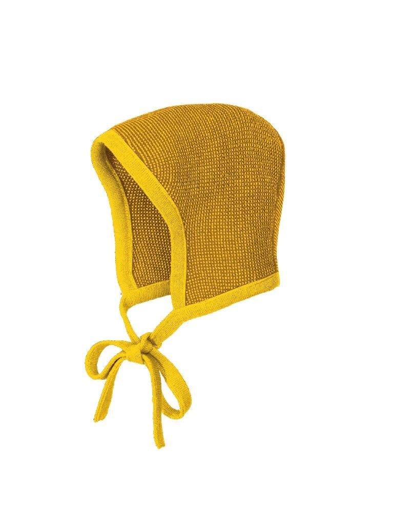 Disana Disana - Knitted bonnet, curry/gold (0-2j)