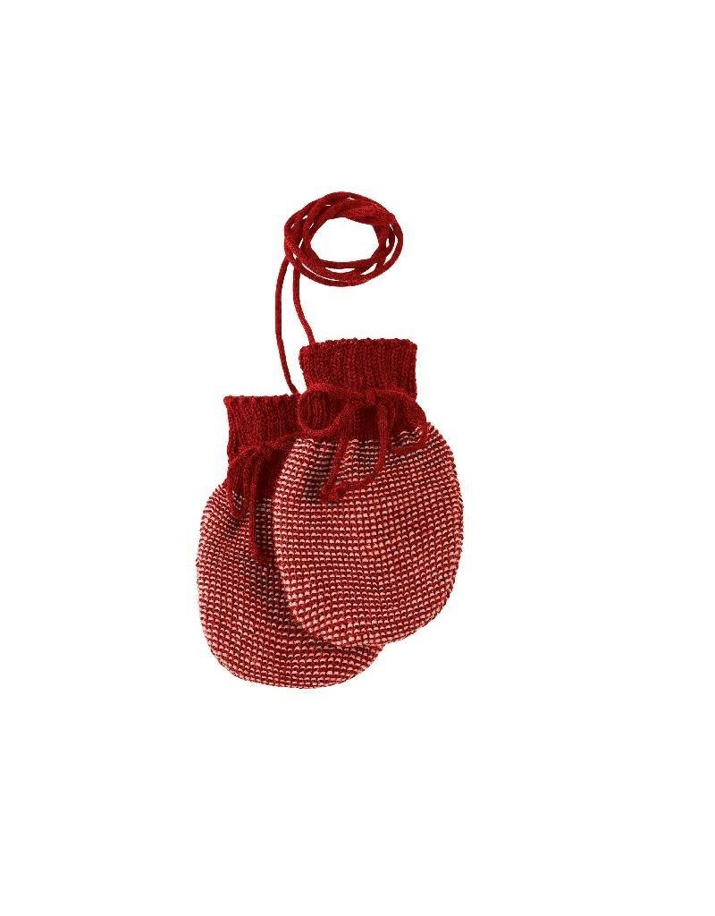 Disana Disana - Knitted gloves, bordeaux/rose (0-2j)