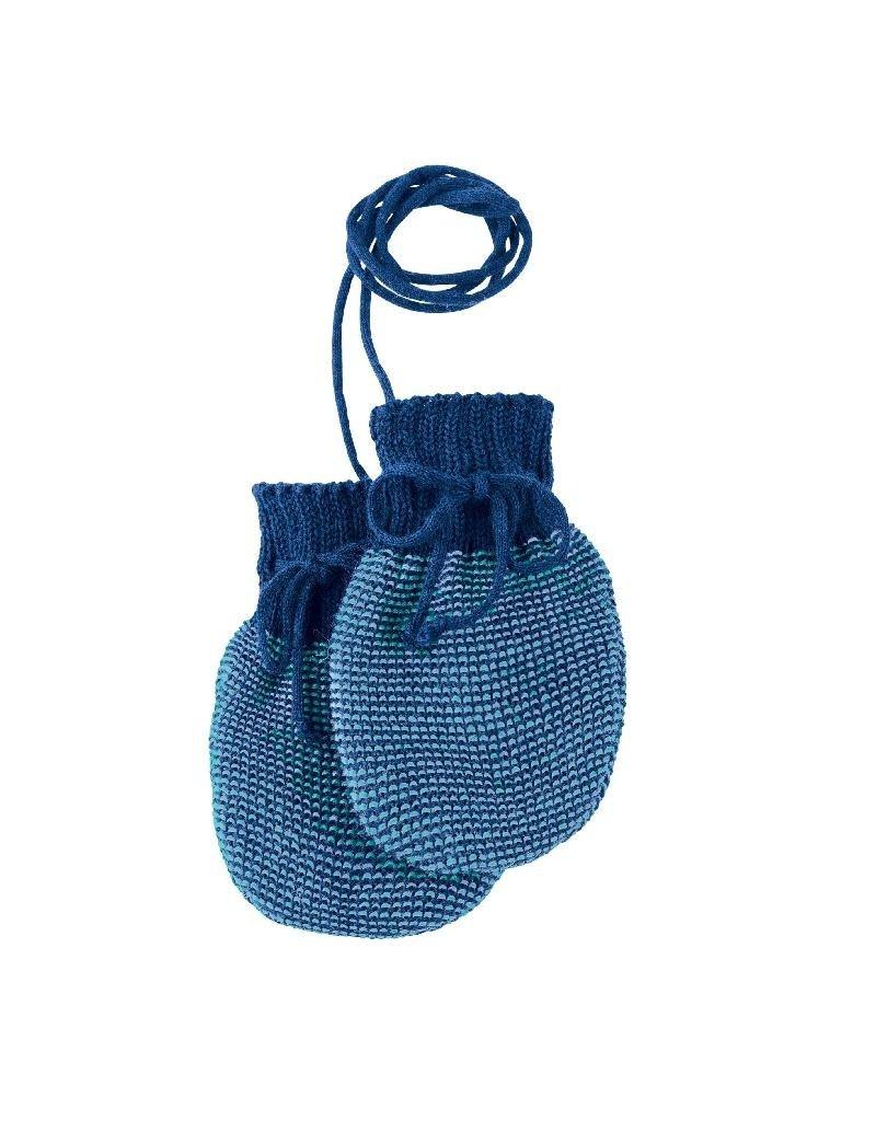 Disana Disana - Knitted gloves, marine/lagoon (0-2j)
