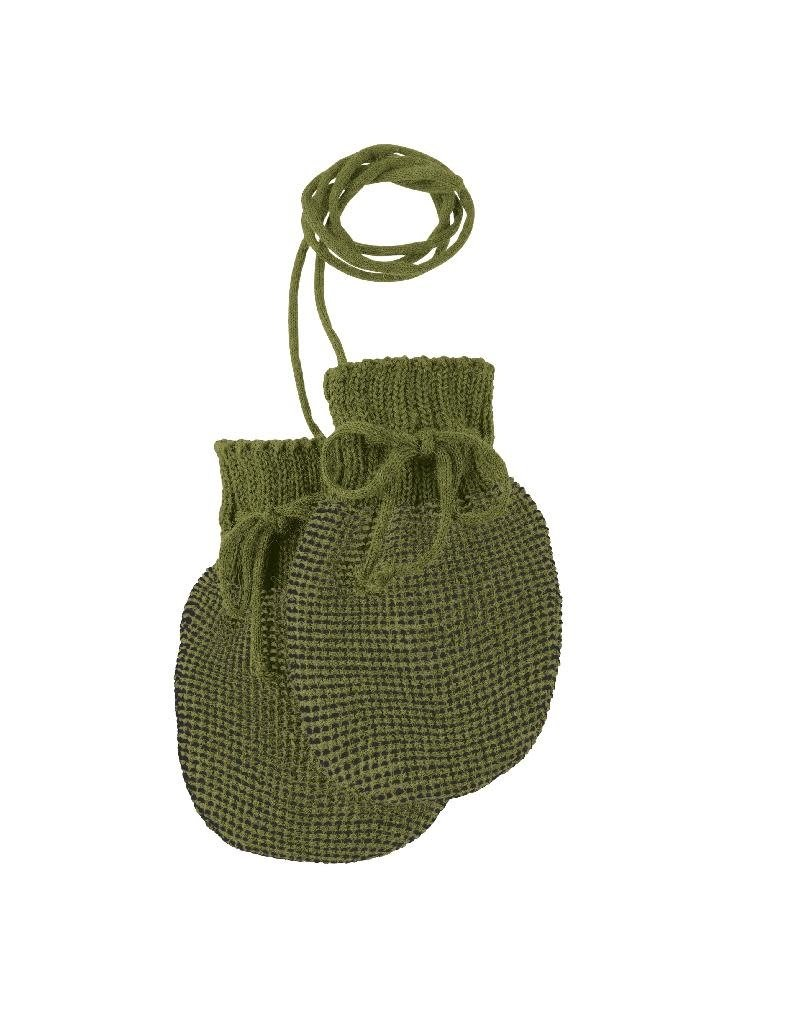 Disana Disana - Knitted gloves, olive/anthracite (0-2j)
