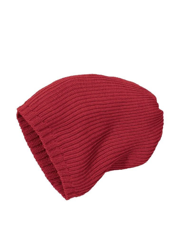 Disana Disana - Knitted hat, bordeaux (3-16j)