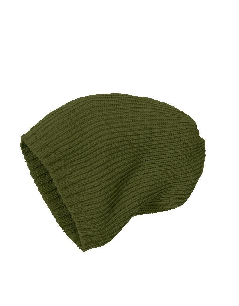 Disana Disana - Knitted hat, olive (3-16j)