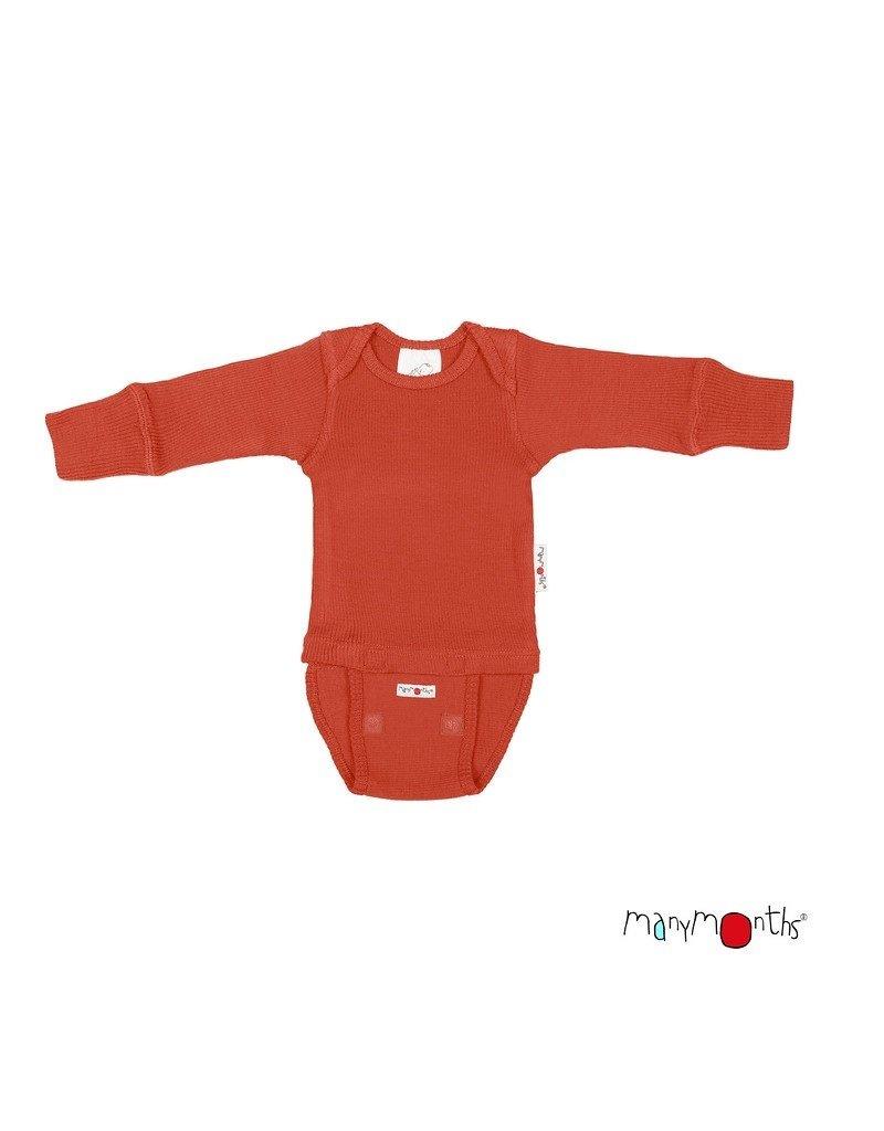 ManyMonths ManyMonths - body/shirt, ls, wol, rooibos red