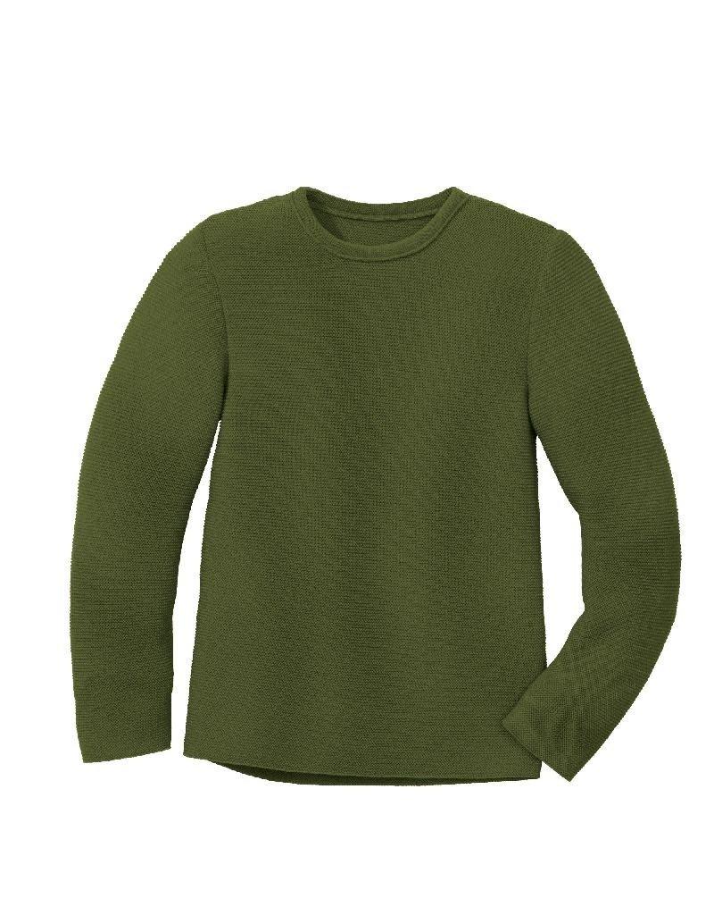 Disana Disana - left knit jumper, olive (3-16j)