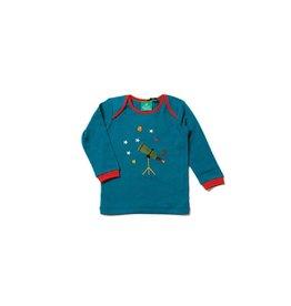 Little Green Radicals Shirt, star gazer applique (0-2j)
