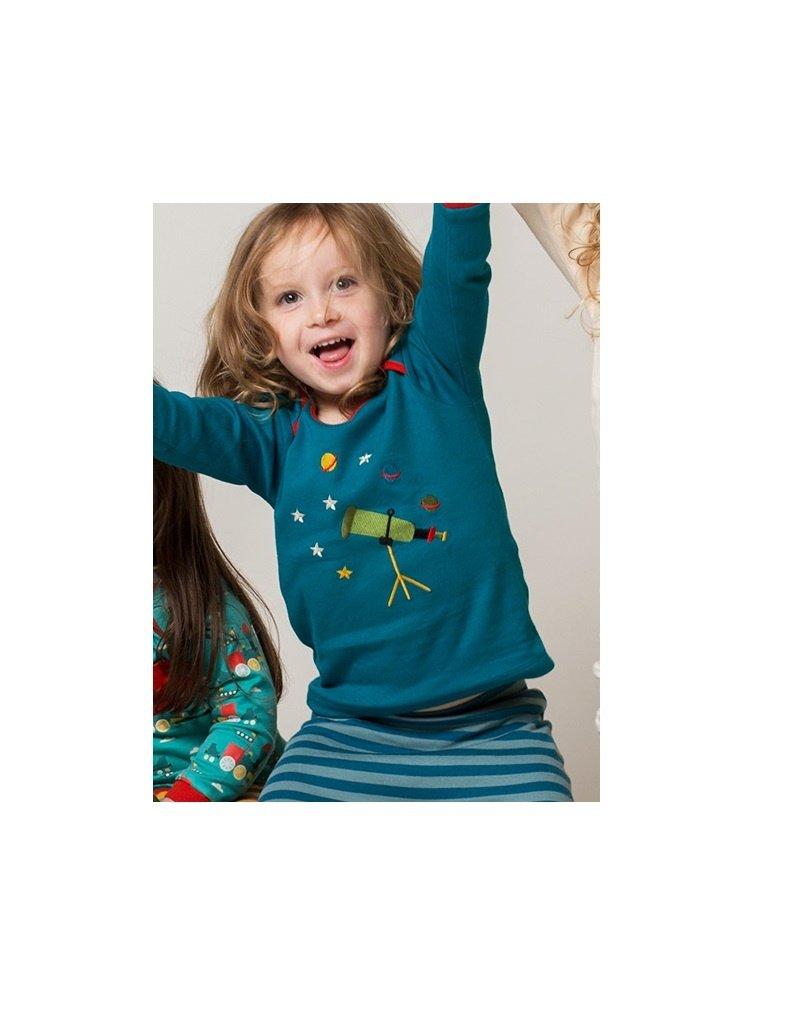 Little Green Radicals Little Green Radicals - Star gazer applique long sleeve tee (0-2j)