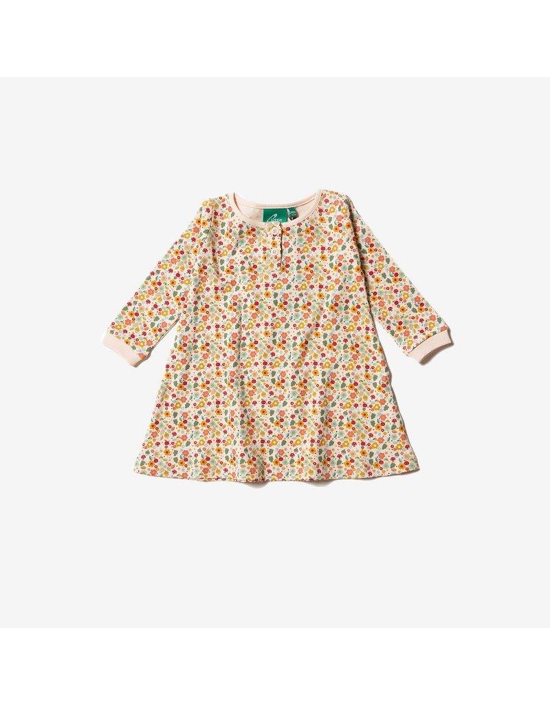Little Green Radicals Little Green Radicals - Autumn Blossom Playaway dress, powderpuff cream (0-2j)