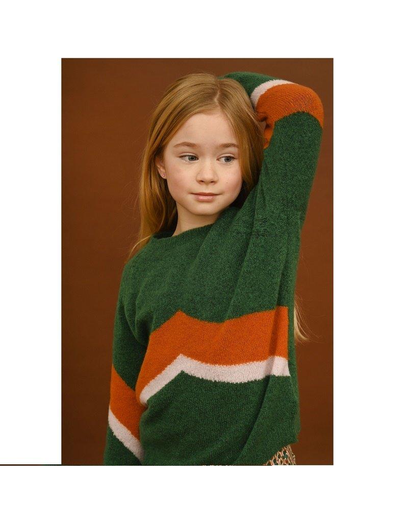Lily Balou Lily Balou - Mira colourblock jumper, evergreen