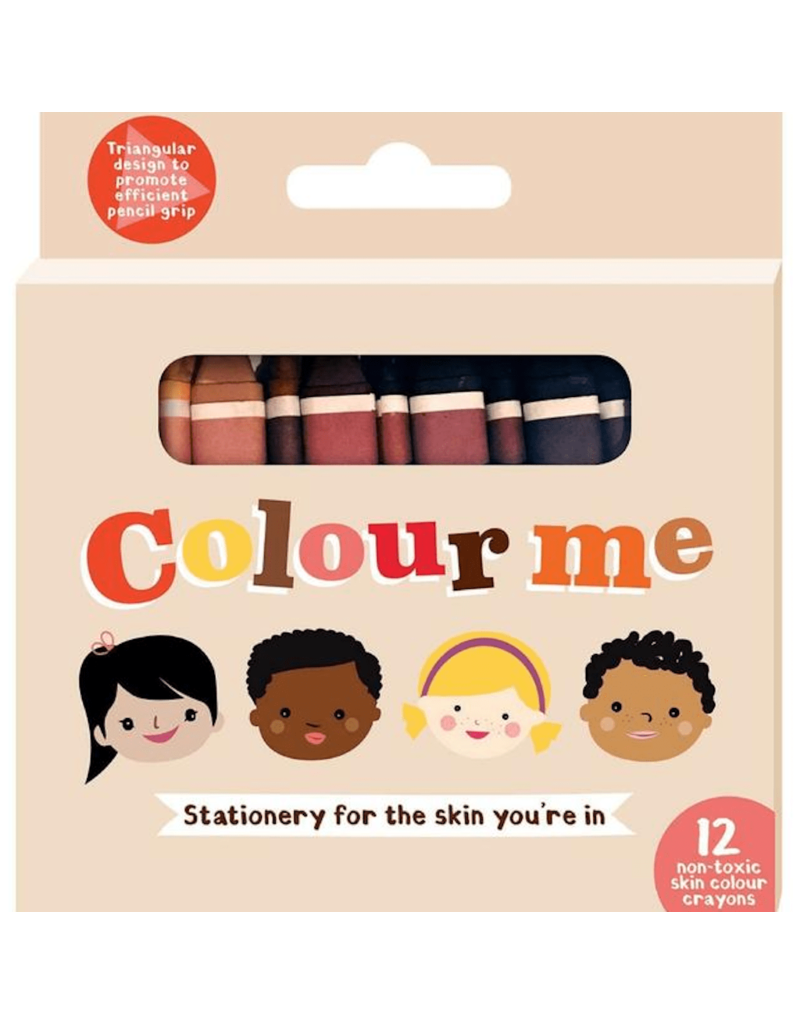 Colour Me Kids Colour Me Kids - skin colour crayons, 12 stuks